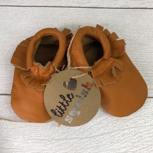Other - Soft Sole Baby Moccasins Tan 6 months